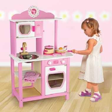 Meisje speelgoed keuken