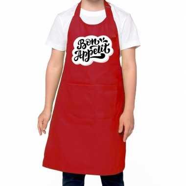 Speelgoed bon appetit keukenchort rood kinderen