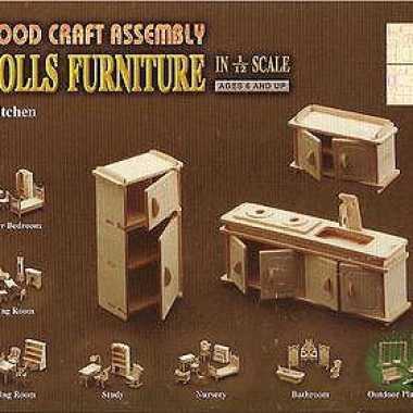 Speelgoed houten keuken meubels poppenhuis