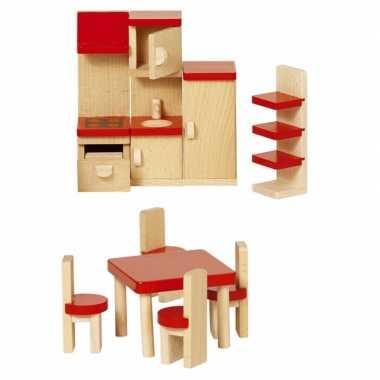 Speelgoed  Houten keuken meubeltjes poppenhuis