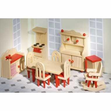 Speelgoed poppenhuis keuken meubels