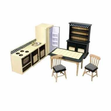 Speelgoed  Victoriaans poppenhuis keuken meubels