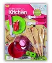 Poppen speelgoed keuken gerei